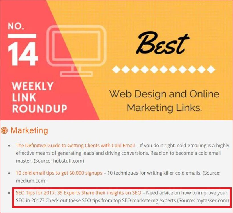 Link Round Up Link Building Tips