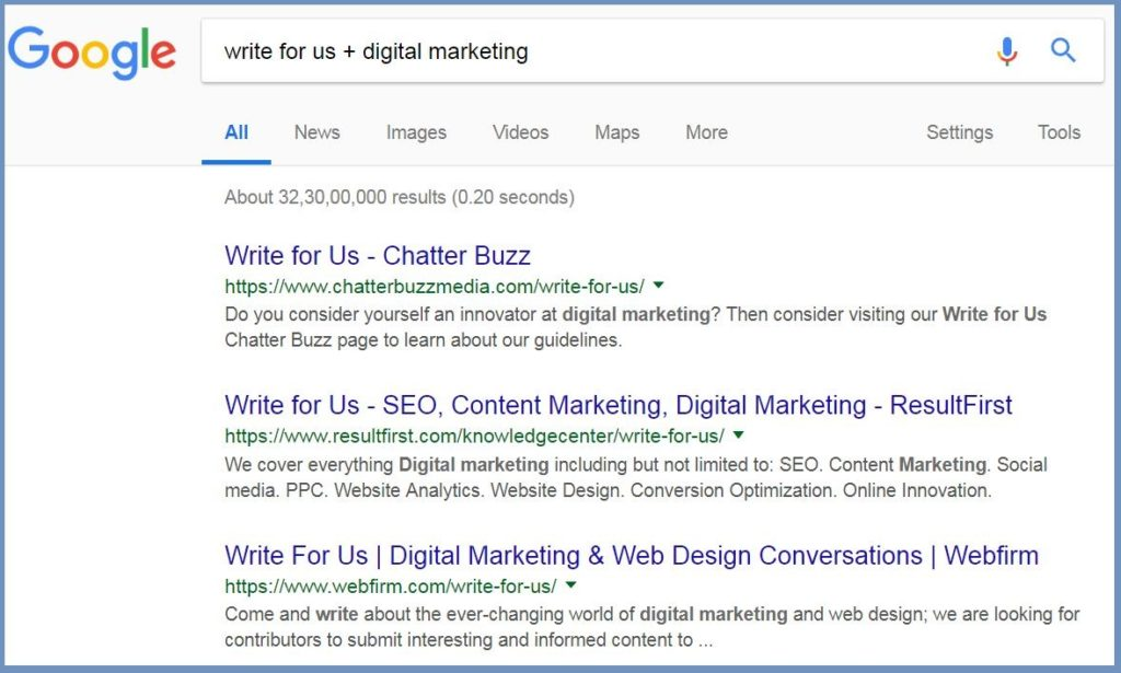 write for us + digital marketing