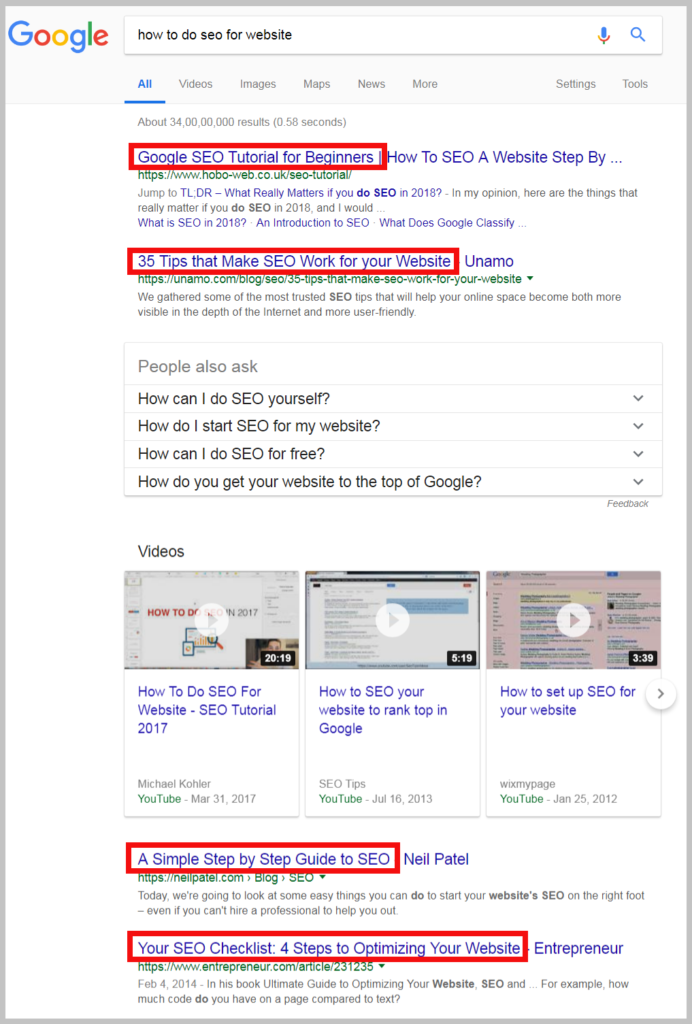 how to do seo for website