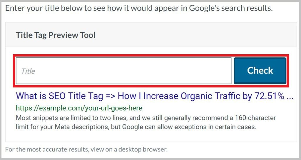 Title Tag Preview Tool Moz