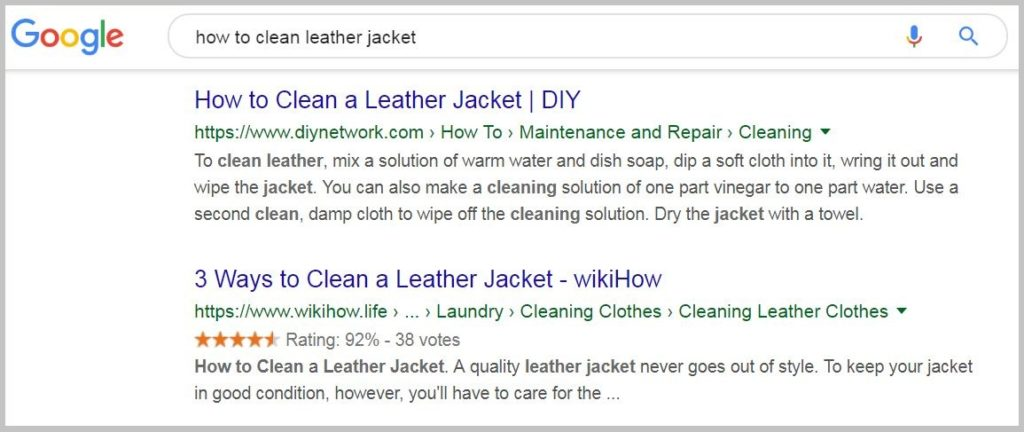 Google searches for SEO