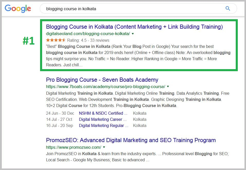 Best blogging course in kolkata