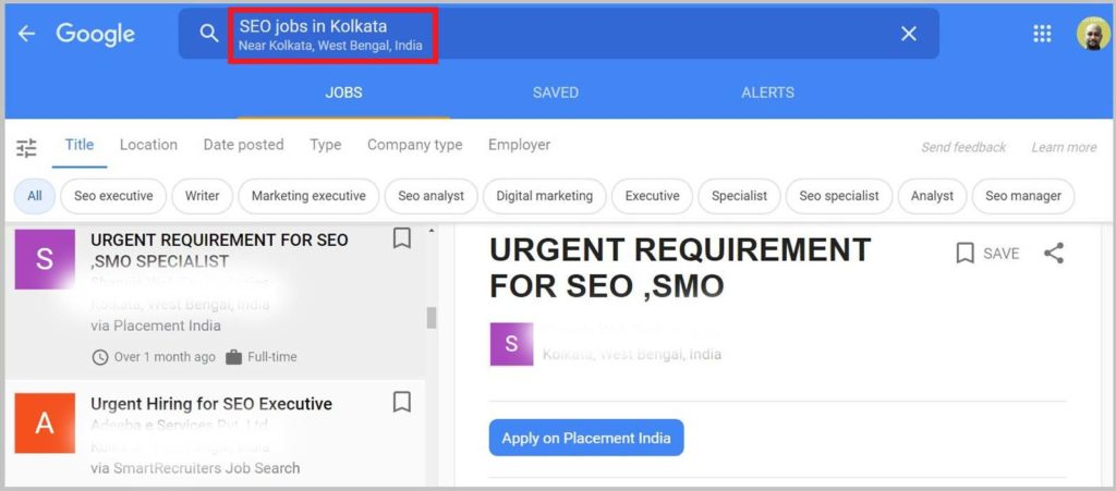 URGENT REQUIREMENT FOR SEO