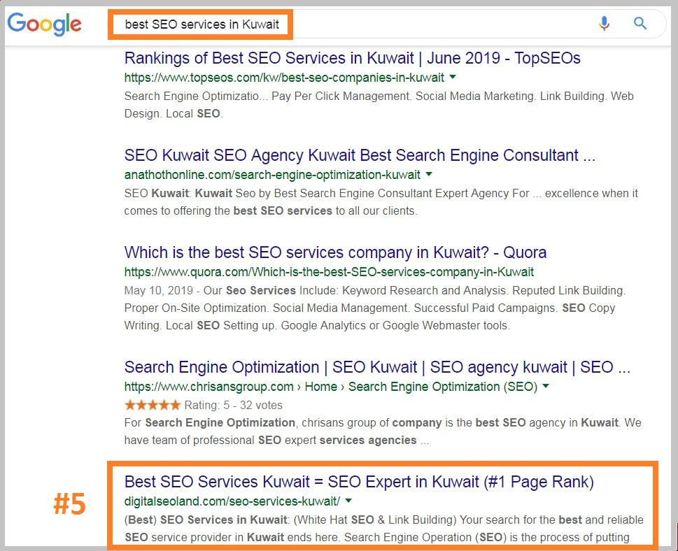 top SEO services in Kuwait