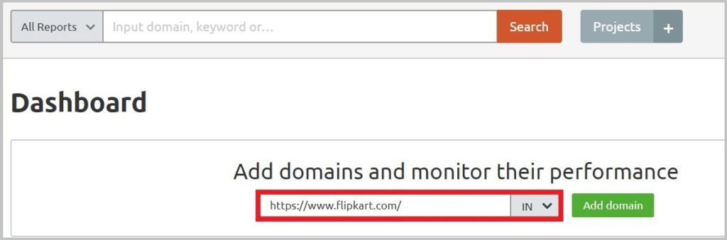 Add domains and monitor their performance