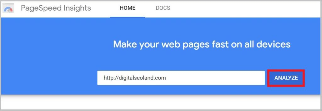 Make your web pages fast on all devices