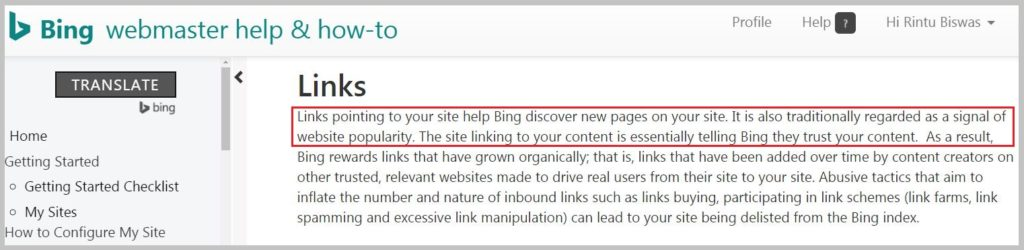 Bing rewards links