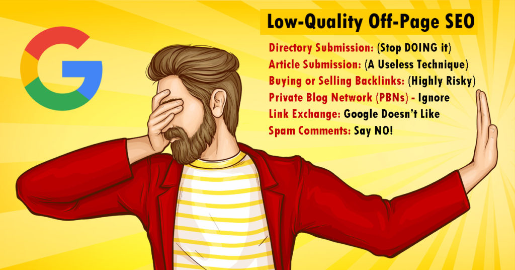 Low-Quality Off-Page SEO Techniques