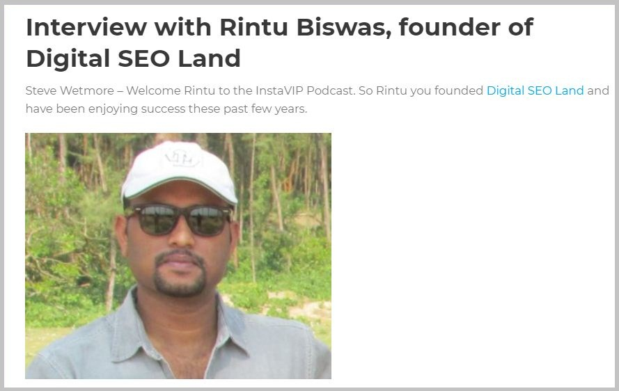 SEO Training in Kolkata - Rintu Biswas