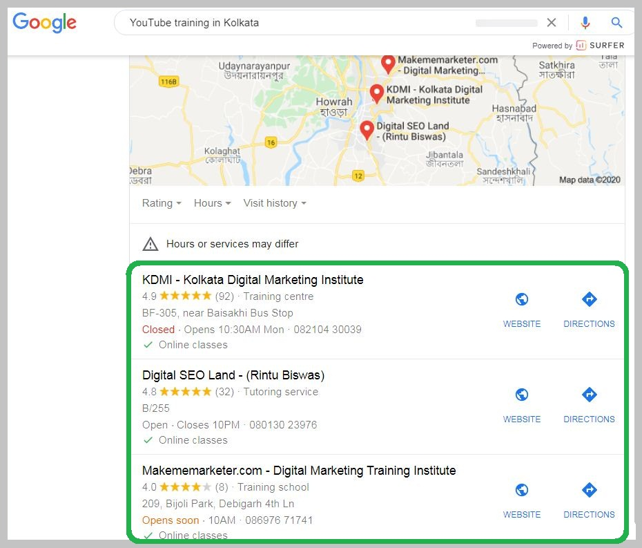 Google Map Ranking