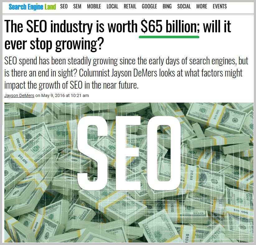 SEO industry is growing