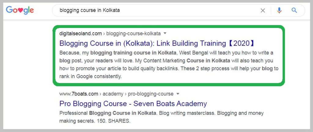 blogging course in Kolkata ranking