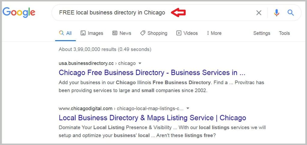 FREE local business directory in Chicago