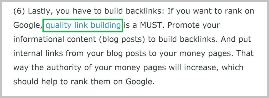 Link building-Quality